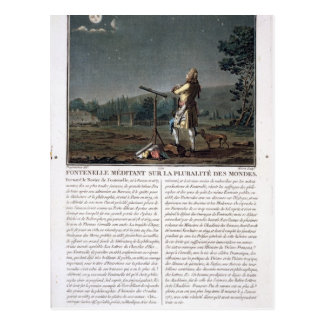 Bernard le Bovier de Fontenelle (1657-1757) contem Postkarte