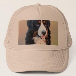 Bernese Gebirgshund, der ergebene Hund Truckerkappe