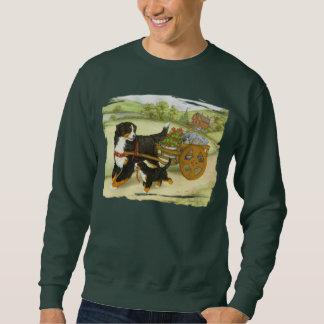 Bernese Gebirgshund und -welpe mit Wagen Sweatshirt
