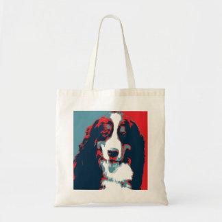 Bernese Gebirgshundepolitisches Parodie-Plakat Tragetasche