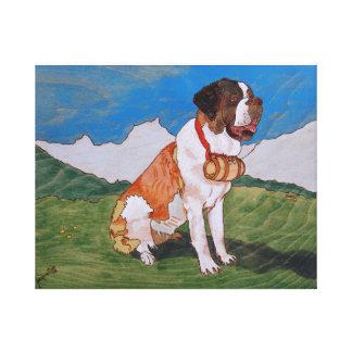 Bernhardiner Canvas Leinwanddruck