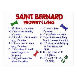 BERNHARDINER-Eigentums-Gesetze 2 Postkarte