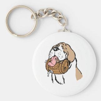 Bernhardiner-Fass-Hund Standard Runder Schlüsselanhänger