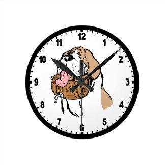 Bernhardiner-Fass-Hund Uhren