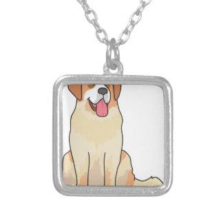 Bernhardiner-Hund Versilberte Kette
