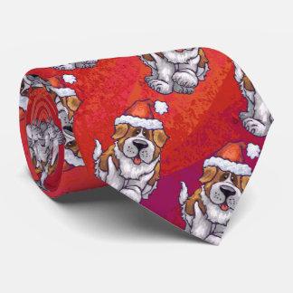 Bernhardiner im Hut-Muster auf Rot Krawatten