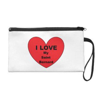 Bernhardiner-Liebe Wristlet Handtasche