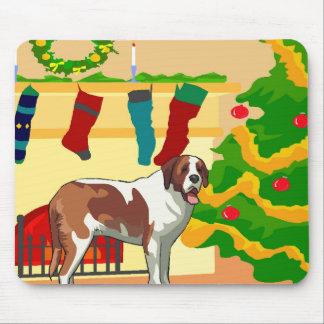 Bernhardiner-Weihnachten Mousepad
