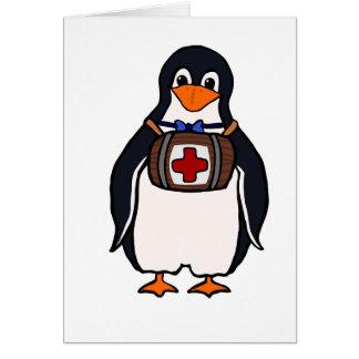 Bernhardiners Penguin-Mitteilungskarten Karte