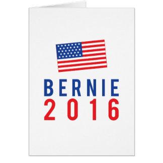 Bernie 2016 mit amerikanischer Flagge Karte