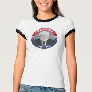 Bernie-Knopf - hübsche Fliege für einen weißen Typ T-Shirt