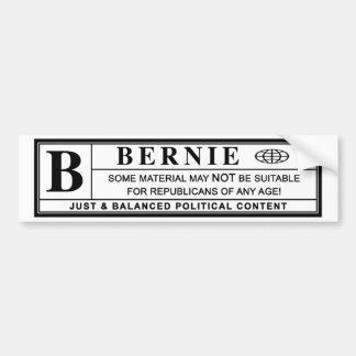 Bernie-Sandpapierschleifmaschine-Warnschild Autoaufkleber