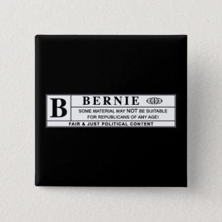 Bernie-Sandpapierschleifmaschine-Warnschild Quadratischer Button 5,1 Cm