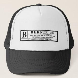 Bernie-Sandpapierschleifmaschine-Warnschild Truckerkappe