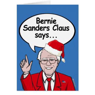Bernie-Sandpapierschleifmaschine-Weihnachtskarte - Karte