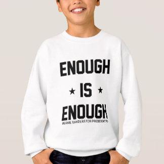 Bernie-Sandpapierschleifmaschinen genug ist genug Sweatshirt