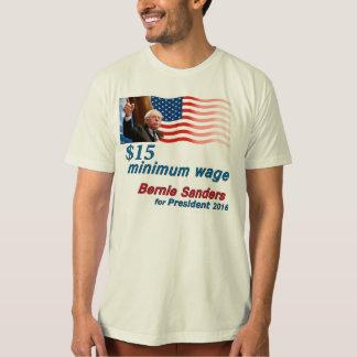 Bernie-Sandpapierschleifmaschinen: Mindestlohn $15 Tshirts
