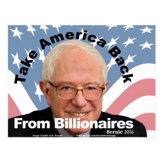 Bernie-Sandpapierschleifmaschinen nehmen Postkarte