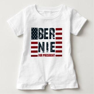 Bernie-Sandpapierschleifmaschinen US-Flagge Baby Strampler