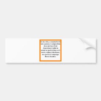 Bernie-Sandpapierschleifmaschinezitat Autoaufkleber