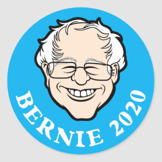 BernieCartoon-Hauptaufkleber 2020 Runder Aufkleber