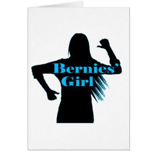 Bernies Mädchen-Bernie-Sandpapierschleifmaschinen Karte