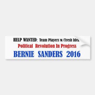BernieSanders: Politische Revolution auf Weiß Autoaufkleber