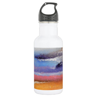 Bernsteinfarbige und blaue abstrakte trinkflasche