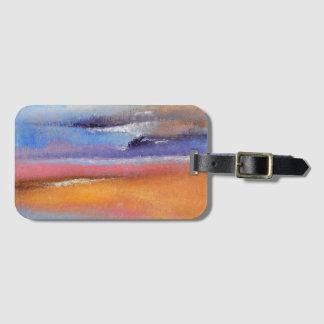Bernsteinfarbiger abstrakter Gepäck-Umbau Gepäckanhänger