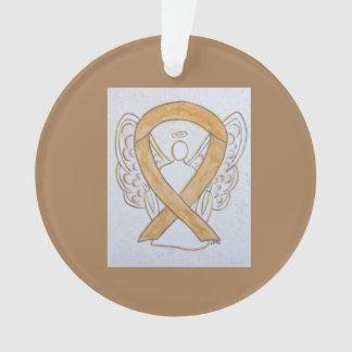 Bernsteinfarbiger Bewusstseins-Band-Engel Ornament