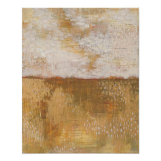 Bernsteinfarbiger Horizont-abstrakter Druck | Poster
