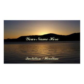 Bernsteinfarbiger Sonnenuntergang Visitenkartenvorlage