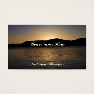 Bernsteinfarbiger Sonnenuntergang Visitenkarten