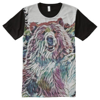 Berrywine Bärn-grafisches T-Stück durch Aleta T-Shirt Mit Bedruckbarer Vorderseite