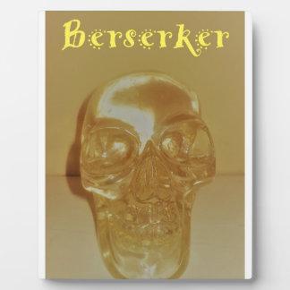 Berserker Schädel Fotoplatte