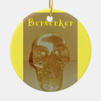 Berserker Schädel Keramik Ornament