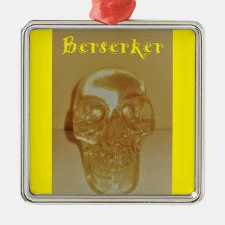 Berserker Schädel Silbernes Ornament