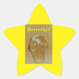 Berserker Schädel Stern-Aufkleber