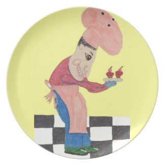 Bert backt Blaubeerkleie-Brötchen Teller