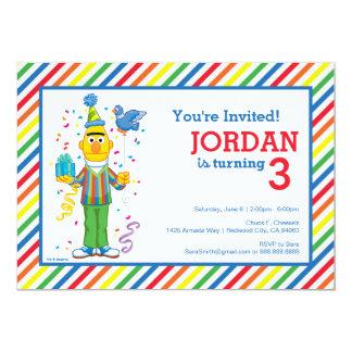 Bert Striped Geburtstag 12,7 X 17,8 Cm Einladungskarte