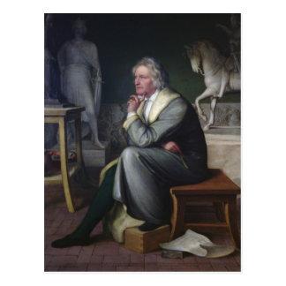 Bertel Thorvaldsen in seinem Studio in Rom, 1834 Postkarte