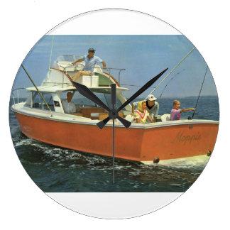 Bertram Boote, die Thema-Wanduhr fischen Große Wanduhr