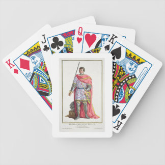 """Bertrand du Guesclin (1320-80) von """"Receuil DES E Spielkarten"""
