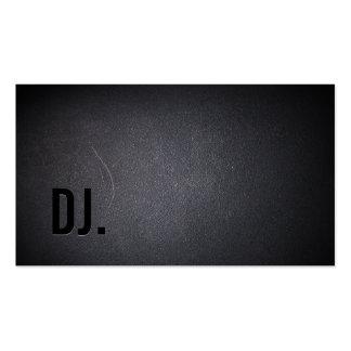 Beruflich schwärzen Sie heraus DJ-Geschäfts-Karte Visitenkartenvorlage