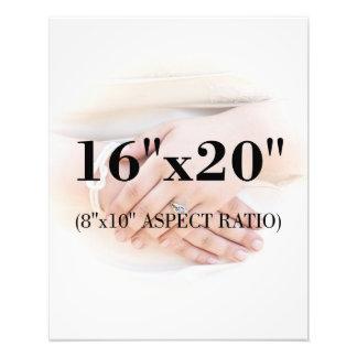 Berufliche 16 x 20 Satin-Foto-Druck-Schablone Fotodruck
