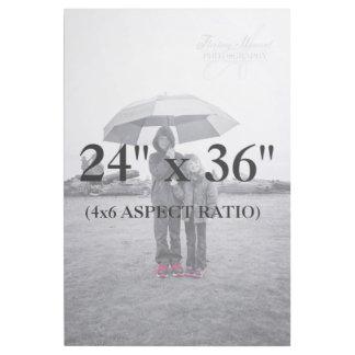 Berufliche 24x36 addieren Ihre Foto-Schablone Galerieleinwand