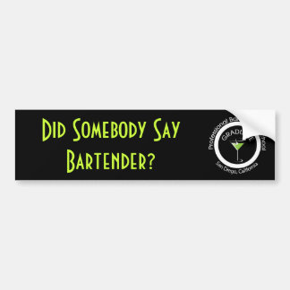 Berufliche Barkeeper-Schule I graduiert Autoaufkleber