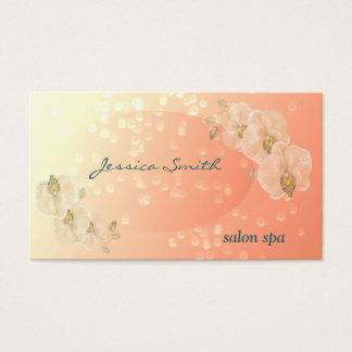 Berufliche bezaubernde elegante bokeh Orchidee Visitenkarte