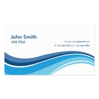 Berufliche einfache einfache moderne Blau-Wellen Visitenkarten