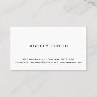 Berufliche einfache weiße Geschäfts-Karten Visitenkarte